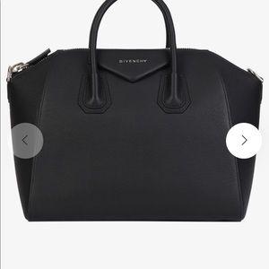 Givenchy Antigona Medium Grained Leather Black bag